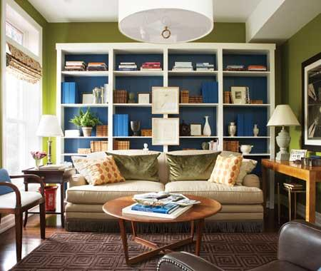 Bookcases Behind A Sofa Home Design Elements